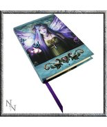 Licensed Anne Stokes Mystic Aura Purple Fairy with Pentagram Embossed Jo... - $18.69