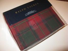 Ralph Lauren TRISTAN NORFOLK full Queen Duvet Cover Tartan Plaid - $227.95