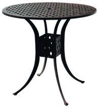 Patio bar set with Palm tree swivel chairs 5pc cast aluminum Nassau furniture image 3