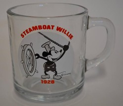 Anchor Hocking ~ Disney ~ Mickey Mouse ~ Steamboat Willie 1928 ~ Glass C... - $14.95