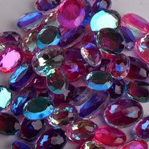 Multi Color Shiny Aquamarine Oval Shape Loose Gemstones Lots in Free Shi... - $183.99
