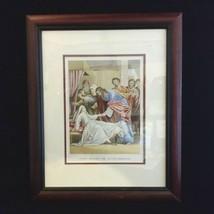 "Bible Print Circa 1850, Jesus Raising the Ruler's Daughter, Framed 16"" x... - $144.54"
