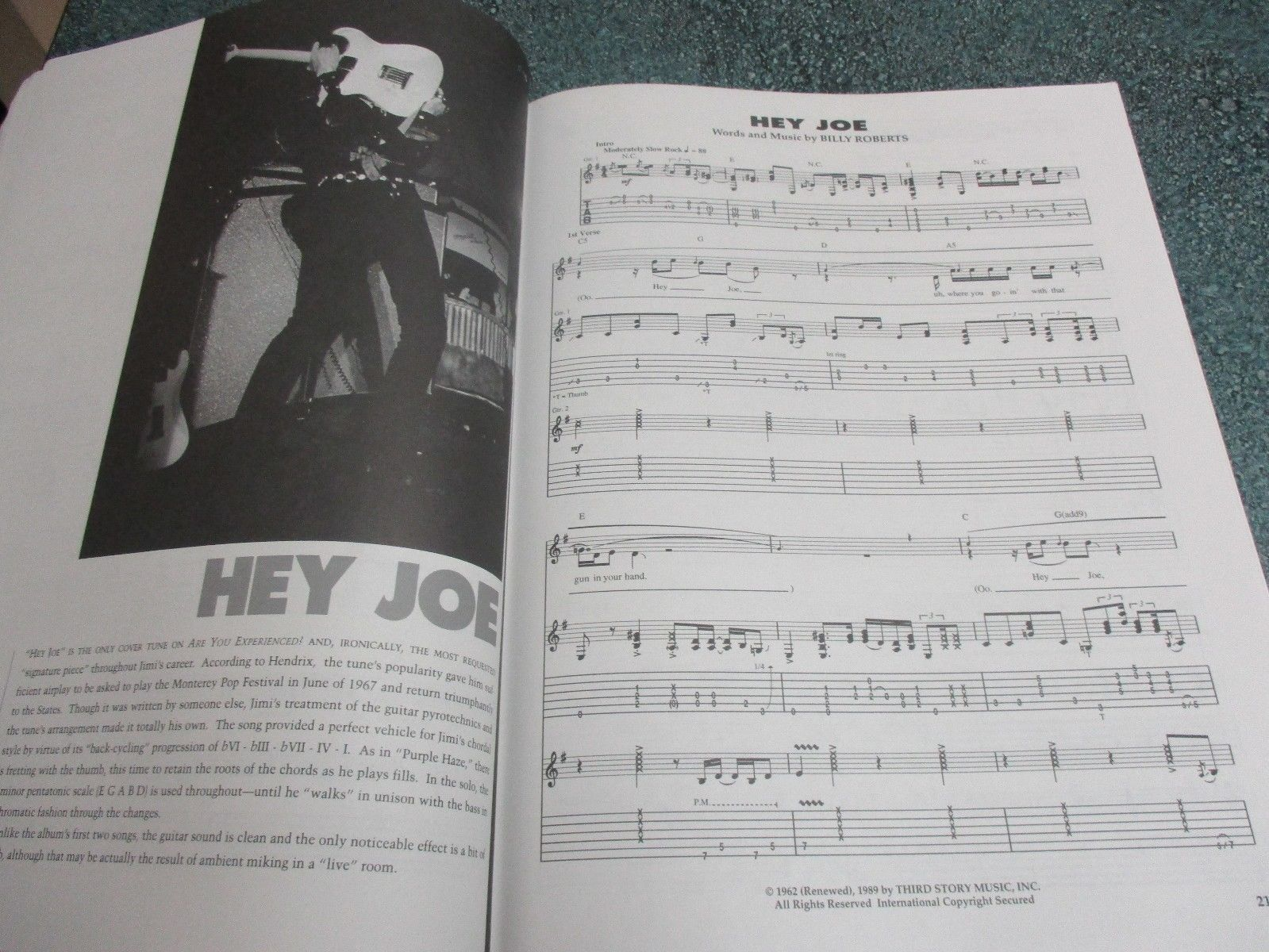 JIMI HENDRIX ARE YOU EXPERIENCED Music Song Book Guitar/Bass/Drum TRANSCRIPTIONS