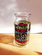 Vintage 70s Arby's Stained Glass Promotional Collectible Tumbler Glass image 2