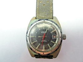 1970'S  LAUSANNE 17 JEWEL AUTOMATIC DIVER WORLD TIME BEZEL WATCH RUNS - $295.00