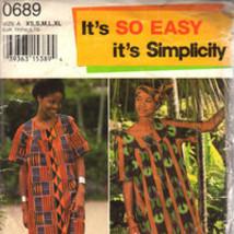 Simplicity 0689 Misses Long dress, Tunic Pants and Headwrap  xs,s,m,l, x... - $5.50