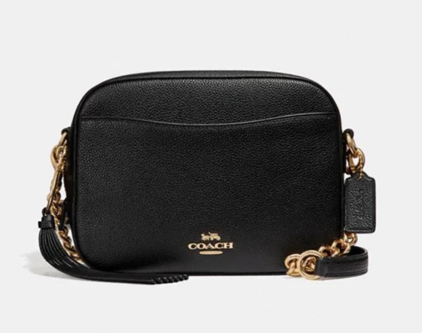 Coach coach Camera Bag pebble leather free shipping