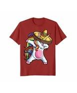 New Shirts - Dabbing Unicorn T shirt Cinco de Mayo Rainbow Sombrero Kids Men - $19.95 - $23.95