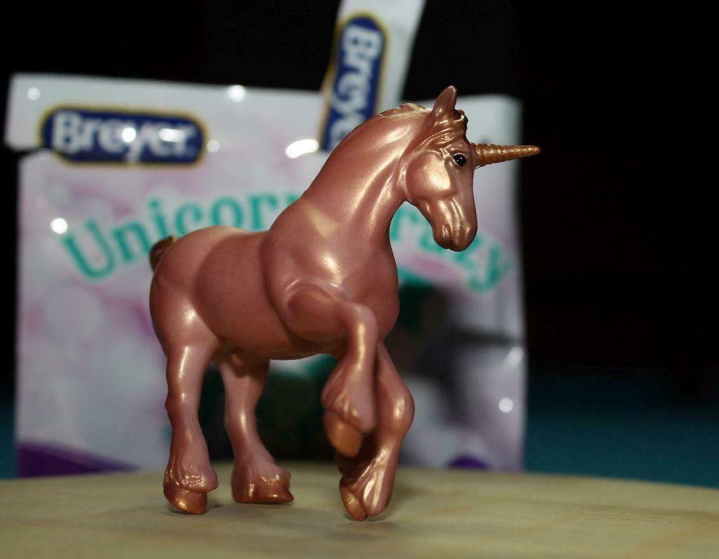 Breyer     Stablemate Peachy Draft ~ Horse Crazy Unicorn Blind Bag 2019 Walmart - $5.99