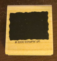 Rectangle Background Rubber Stamp #2 Stampin' Up! 2000 Shapes Good Condition - $3.95