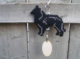 Belgian Sheepdog crate tag or hang anywhere, herding dog art, handmade a... - $20.00