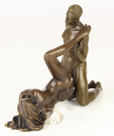 Antique Home Decor Bronze Sculpture shows Erotic Bronze * Free Air Shipping