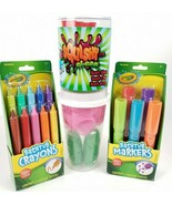 Crayola Bath Time Fun Kit Bathtub Crayons Markers Squishy Clean Slime Cl... - $22.83