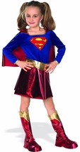 Rubie's Deluxe Kids Supergirl Costume Super Hero DC Comics Cape Hallowee... - $32.50
