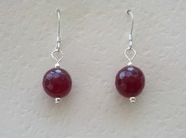 Ruby Sterling Silver Earrings Nickel Free July Birthstone Gift for Mothers Day