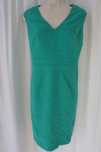 Anne Klein Petite Dress 8P Kelly Green Textured A-Line Sleeveless Career... - $49.44