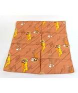"Vintage 1970s Copper Scarf Lady Print Silky Neck Wrap 21"" - $19.79"