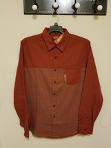 Men's Long Sleeve Arizona Jean Xxl,L Flannel Two Tone Brown Hena New With Tags! - $19.99