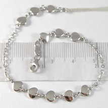 White Gold Bracelet 750 18K with File of Hearts, Heart, Length 18 CM - $304.56