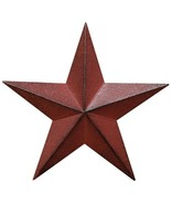Large Scale Dimensional Barn Star Distressed Country Red & Black Primiti... - $27.91
