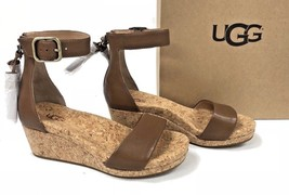 UGG Australia Zoe Tassel Open Toe Wedge Sandal 1019973 Chestnut Women's Shoes - $79.99