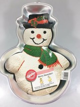 Wilton Merry Snowman Aluminum Cake Pan Mold 2105-803 w Instructions 1989... - $25.97
