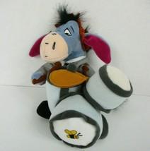 Disney Store Eeyore Playing Drums in Suit Bean Bag Plush Winnie The Pooh... - $12.61