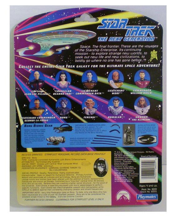Star Trek The Next Generation Borg Action Figure Playmates 1992 S1
