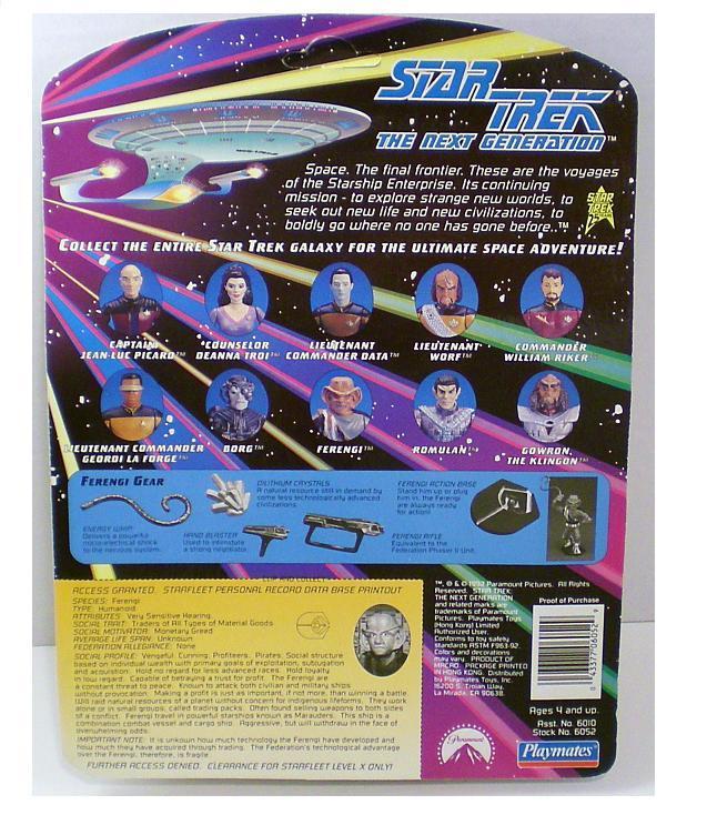 Star Trek TNG Ferengi Action Figure Playmates 1992 Series 1