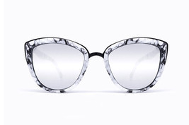 NEW QUAY My Girl  Marble/Silver Mirror Sunglasses - $49.50