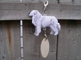 Kuvasz crate tag or decor, hang anywhere dog art, hand stitched kennel a... - $23.00