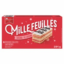 1 Box VACHON Mille Feuilles -Flaky Pastries - 6 Cakes Each -290g-Canada-... - $13.32