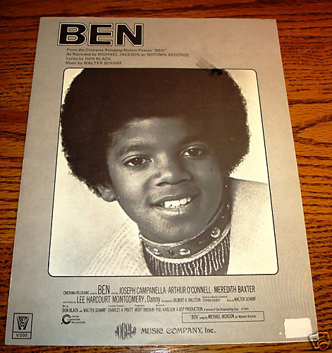 MICHAEL JACKSON BEN ORIGINAL SHEET MUSIC
