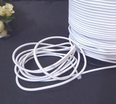 1.5mm wide - 5 yds - 10 yds White Elastic Thread Round Elastic Cord ET5 - $4.99+