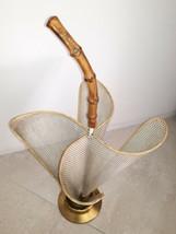 Rare Mid Century Brass Umbrella Stand Mathieu Mategot 50s 60s Paris Design - $400.00