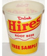 Vintage paper cup HIRES ROOT BEER Free Sample 4oz size new old stock n-m... - $9.99