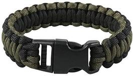 Rothco Deluxe Paracord Bracelet, Olive Drab & Black, 7'' - $6.98