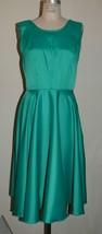 Vintage Retro Style Dress & Scarf 1950's 1960's Teal Turquoise Sleeveles... - $14.85