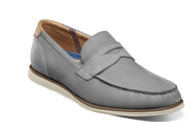 Florsheim Atlantic Moc Toe Penny Loafer Slip On Gray 13344-020 - €88,10 EUR