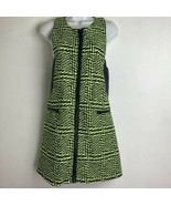 nastygal womens size M neon Yellow black Zipper Front zig zag dress - $28.70