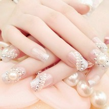 3D White Nail Art Tips Faux Pearl Acrylic Round Gem Glitter DIY Decorati... - $9.89
