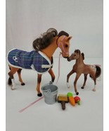 Vtg 1996 Empire Grand Champions Horse Feed N Nuzzle Mare & Foal Appaloos... - $166.65