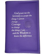 Alcoholics Anonymous AA Big Book Cover Serenity Purple Orchid Medallion ... - $17.96