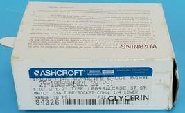 "NEW ASHCROFT 25-1009SW-02L 30PSI DURALIFE GAUGE, 2009SW, 2-1/2"", 251009SW02L image 2"