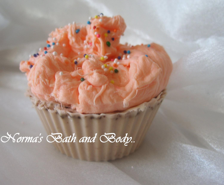 mango chocolate cupcake soap, glycerin soap, cupcake soap, handmade soap, kids s