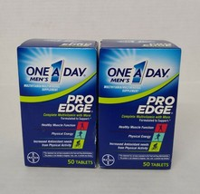 Set of 2: One A Day Men's Pro Edge Multivitamin 50 Tablets Each Exp 12/2020 - $9.90