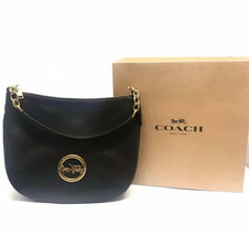 COACH HANDBAG PEBBLE LEATHER ELLE HOBO CROSSBODY - $223.10