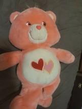 "Care Bears 20"" Jumbo 2003 Love A Lot Pink Hearts Large Plush Bear  - $39.60"