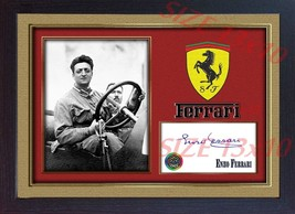 Enzo Ferrari photo signed autograph Formula1 Framed PRINTED WITHOUT MOUNT - $19.27