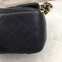 AUTHENTIC CHANEL BLACK QUILTED LAMBSKIN JUMBO CLASSIC FLAP BAG GOLDTONE HARDWARE image 6
